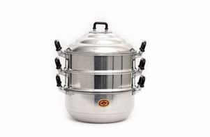 Aluminium steam cooker